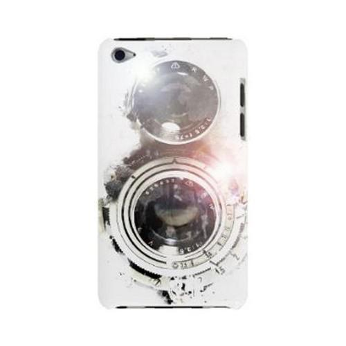 Geeks Designer Line (GDL) Retro Series Apple iPod Touch 4 Slim Hard Back Cover - White Lens Flare