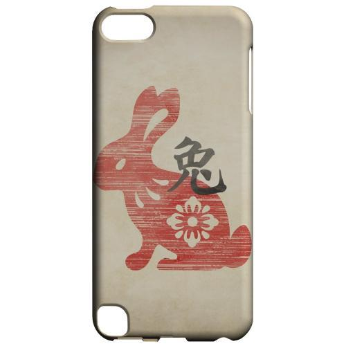 Geeks Designer Line (GDL) Slim Hard Case for Apple iPod Touch 5 - Grunge Rabbit