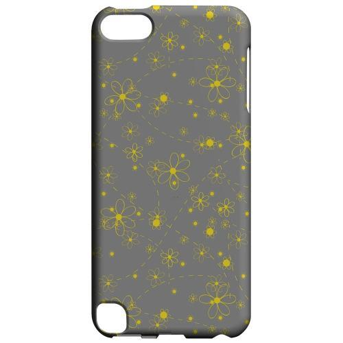 Geeks Designer Line (GDL) Slim Hard Case for Apple iPod Touch 5 - Yellow Daisies on Gray