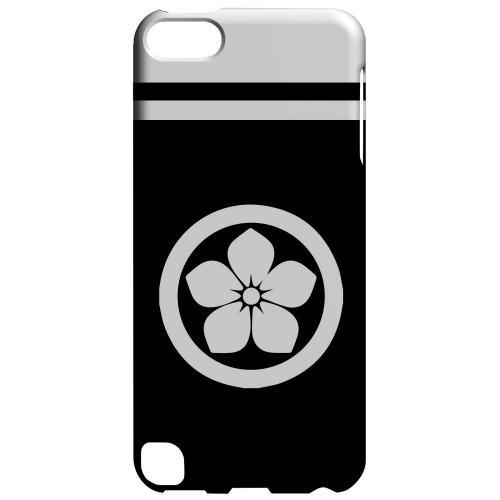 Geeks Designer Line (GDL) Slim Hard Case for Apple iPod Touch 5 - White Kikyo Kamon w/ Stripe v.2