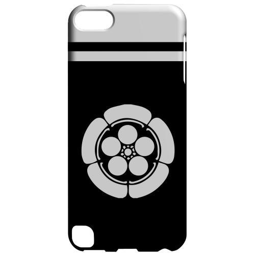 Geeks Designer Line (GDL) Slim Hard Case for Apple iPod Touch 5 - White Umebachi Kamon w/ Stripe v.4