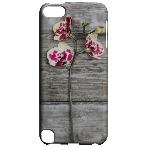 Geeks Designer Line (GDL) Slim Hard Case for Apple iPod Touch 5 - Orchid on Wood
