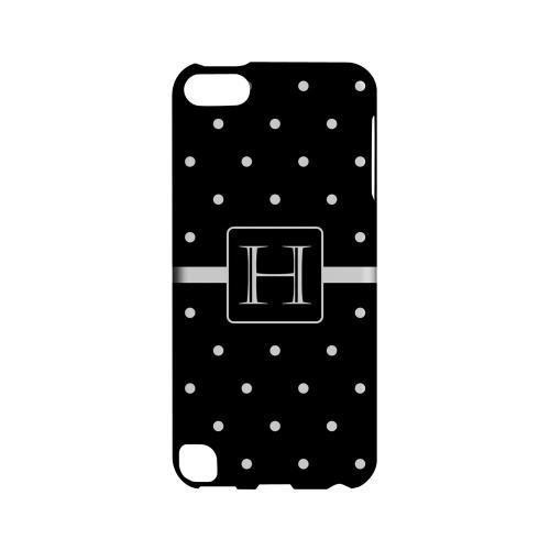 H on Classic Mini Polka Dots - Geeks Designer Line Monogram Series Hard Case for Apple iPod Touch 5