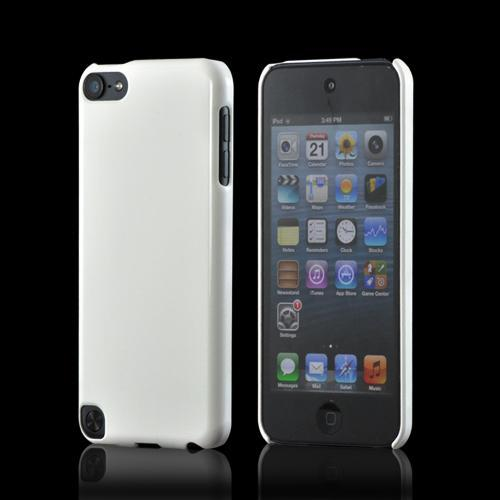 Glossy White Impact Resistant Hard Case for Apple iPod Touch 5 w/ Ultra-Slim Design