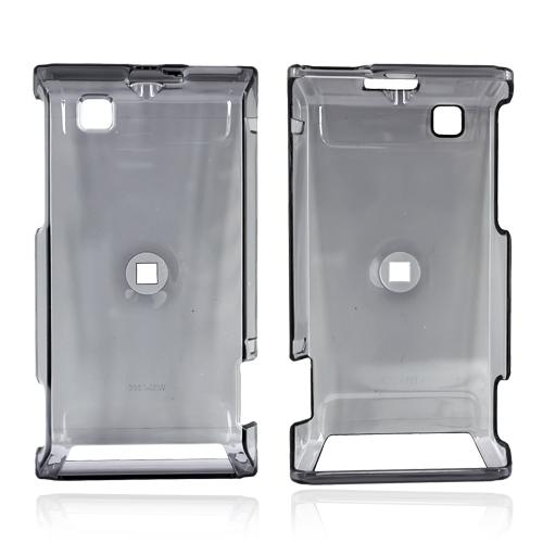 Motorola Devour A555 Hard Back Cover Case - Transparent Smoke