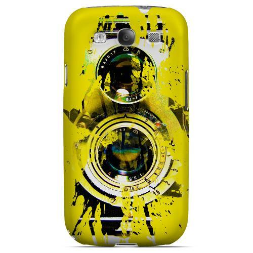 Geeks Designer Line (GDL) Retro Series Samsung Galaxy S3 Matte Hard Back Cover - Chaotic Yellow Camera