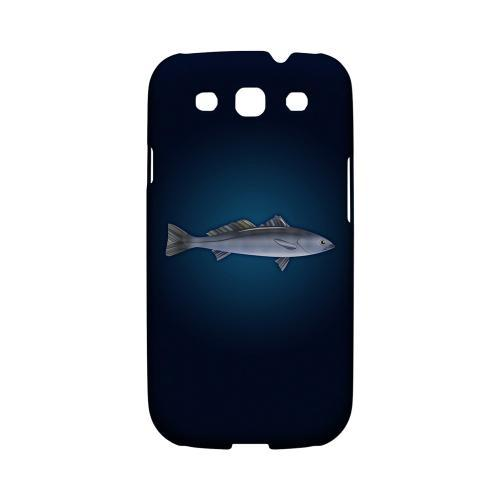 Geeks Designer Line (GDL) Fish Series Samsung Galaxy S3 Matte Hard Back Cover - White Sea Bass