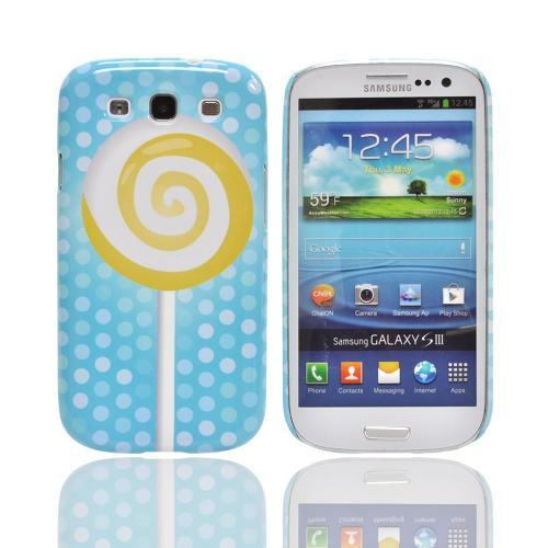 Geeks Designer Line (GDL) Samsung Galaxy S3 Matte Hard Back Cover - Yellow Lollipop