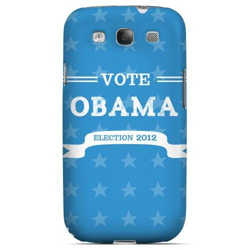 Geeks Designer Line (GDL) 2012 Election Series Samsung Galaxy S3 Matte Hard Back Cover - Vote Obama 2012
