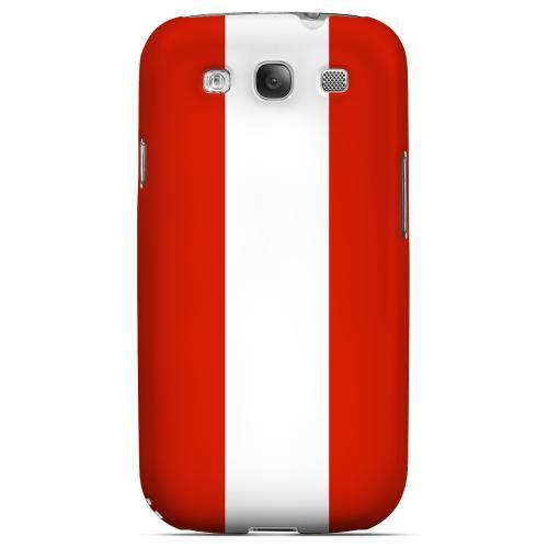 Austria Geeks Designer Line Flag Series Matte Hard Case for Samsung Galaxy S3