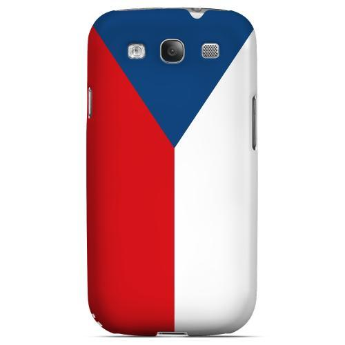 Czech Republic Geeks Designer Line Flag Series Matte Hard Case for Samsung Galaxy S3