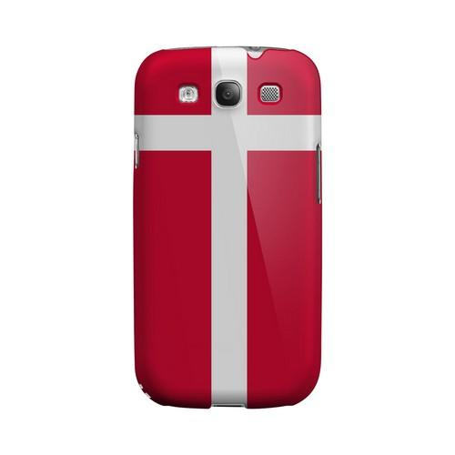 Denmark Geeks Designer Line Flag Series Matte Hard Case for Samsung Galaxy S3