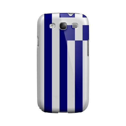 Greece Geeks Designer Line Flag Series Matte Hard Case for Samsung Galaxy S3