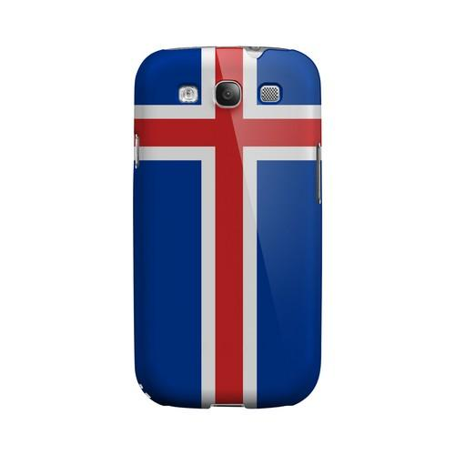 Iceland Geeks Designer Line Flag Series Matte Hard Case for Samsung Galaxy S3