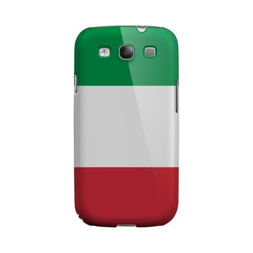 Italy Geeks Designer Line Flag Series Matte Hard Case for Samsung Galaxy S3