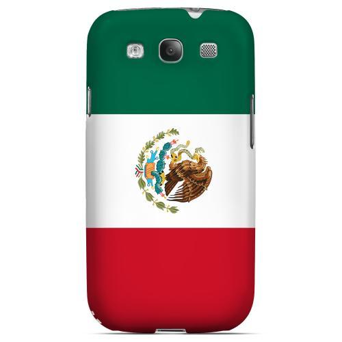 Mexico Geeks Designer Line Flag Series Matte Hard Case for Samsung Galaxy S3