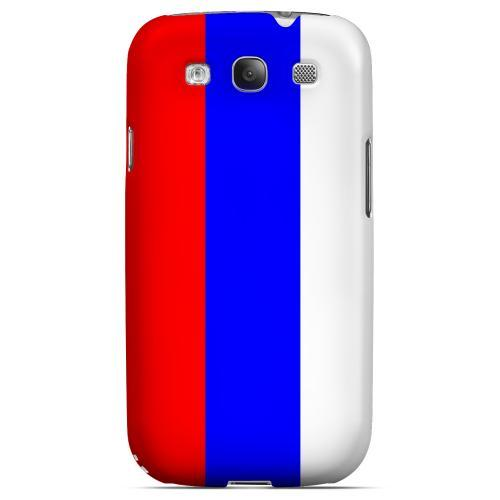 Russia Geeks Designer Line Flag Series Matte Hard Case for Samsung Galaxy S3