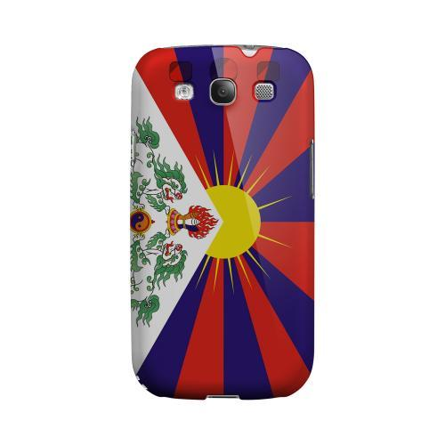 Tibet Geeks Designer Line Flag Series Matte Hard Case for Samsung Galaxy S3