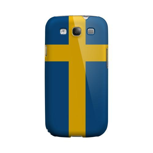 Sweden Geeks Designer Line Flag Series Matte Hard Case for Samsung Galaxy S3