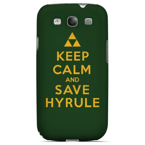 Green Save Hyrule Geeks Designer Line Keep Calm Series Matte Hard Case for Samsung Galaxy S3