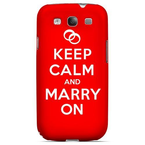 Red Marry On Geeks Designer Line Keep Calm Series Matte Hard Case for Samsung Galaxy S3