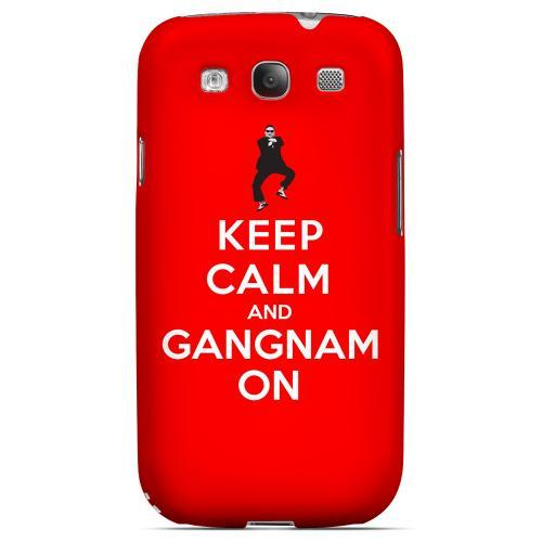 Red Gangnam On Geeks Designer Line Keep Calm Series Matte Hard Case for Samsung Galaxy S3