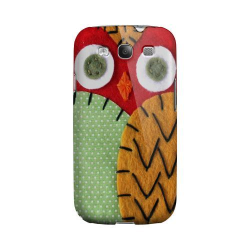 Red/ Orange Owl Geeks Designer Line Sports Series Matte Hard Case for Samsung Galaxy S3