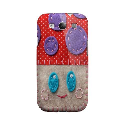 Red/ Purple Mushroom Geek Nation Program Exclusive Jodie Rackley Series Hard Case for Samsung Galaxy S3