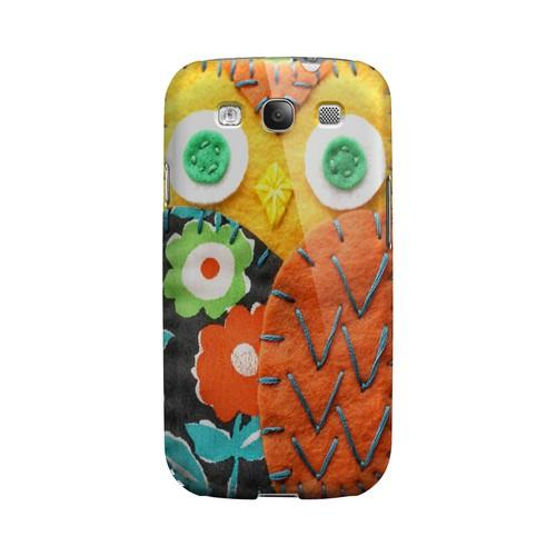 Yellow/ Orange Owl Geek Nation Program Exclusive Jodie Rackley Series Hard Case for Samsung Galaxy S3