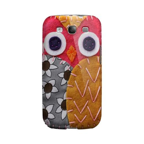 Hot Pink/ Dark Blue Owl Geek Nation Program Exclusive Jodie Rackley Series Hard Case for Samsung Galaxy S3