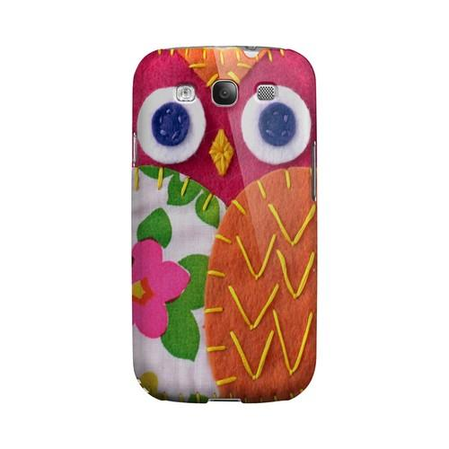 Hot Pink/ Green Owl Geek Nation Program Exclusive Jodie Rackley Series Hard Case for Samsung Galaxy S3