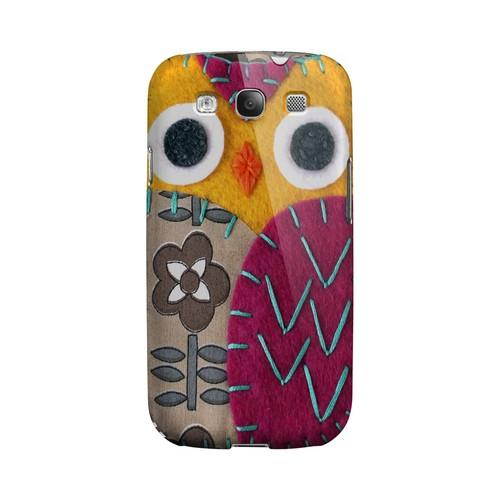 Yellow/ Purple Owl Geek Nation Program Exclusive Jodie Rackley Series Hard Case for Samsung Galaxy S3