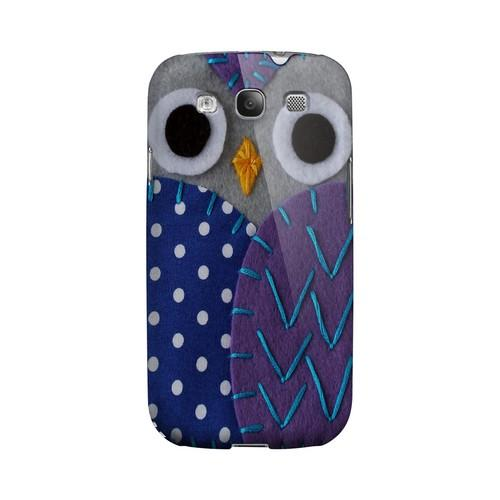 Gray/ Purple Owl Geek Nation Program Exclusive Jodie Rackley Series Hard Case for Samsung Galaxy S3