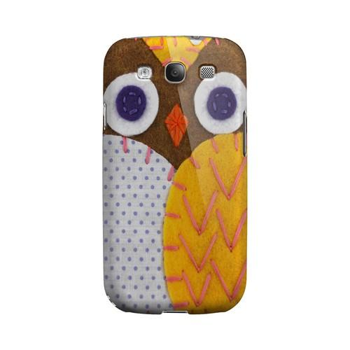 Brown/ Orange Owl Geek Nation Program Exclusive Jodie Rackley Series Hard Case for Samsung Galaxy S3