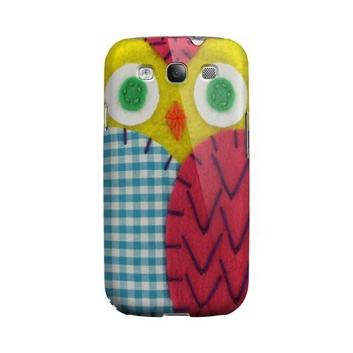 Yellow/ Maroon Owl Geek Nation Program Exclusive Jodie Rackley Series Hard Case for Samsung Galaxy S3