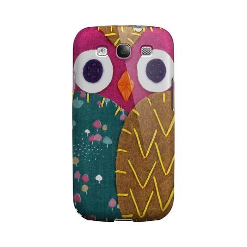 Hot Pink/ Brown Owl Geek Nation Program Exclusive Jodie Rackley Series Hard Case for Samsung Galaxy S3