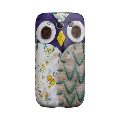 Blue/ Gray Owl Geek Nation Program Exclusive Jodie Rackley Series Hard Case for Samsung Galaxy S3