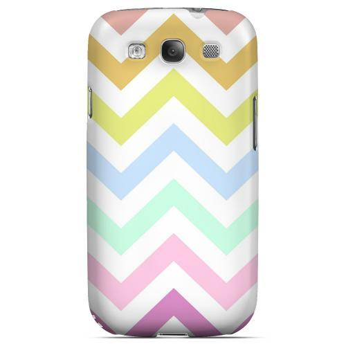 Pastel on White Geeks Designer Line Zig Zag Series Matte Hard Case for Samsung Galaxy S3