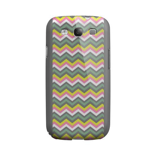 Pink/ Yellow/ Gray/ Green Geeks Designer Line Zig Zag Series Matte Hard Case for Samsung Galaxy S3