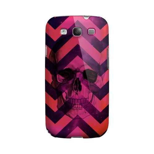 Pink Space Death Geeks Designer Line Zig Zag Series Matte Hard Case for Samsung Galaxy S3