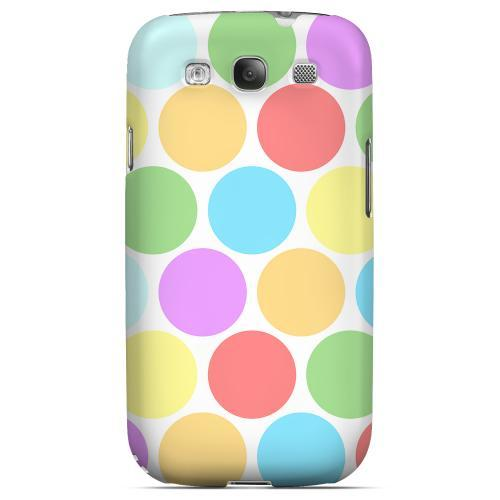 Big & Rainbow on White Geeks Designer Line Polka Dot Series Matte Hard Case for Samsung Galaxy S3