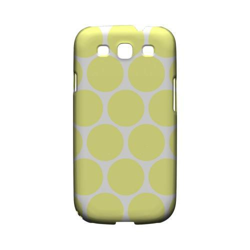 Big & Yellow Geeks Designer Line Polka Dot Series Matte Hard Case for Samsung Galaxy S3