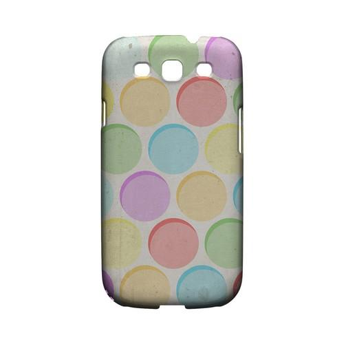 Grungy & Rainbow Geeks Designer Line Polka Dot Series Matte Hard Case for Samsung Galaxy S3