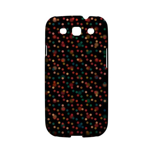 Faded Rainbow Dots on Black Geeks Designer Line Polka Dot Series Matte Hard Case for Samsung Galaxy S3