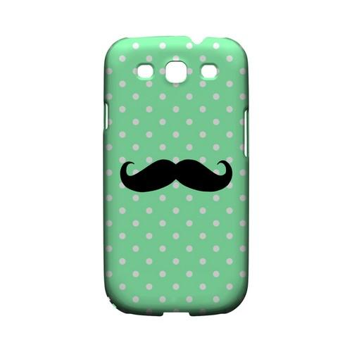 Stache on Mint Geeks Designer Line Polka Dot Series Matte Hard Case for Samsung Galaxy S3