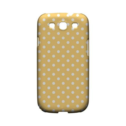 White Dots on Orange Geeks Designer Line Polka Dot Series Matte Hard Case for Samsung Galaxy S3