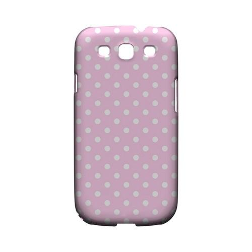 White Dots on Baby Pink Geeks Designer Line Polka Dot Series Matte Hard Case for Samsung Galaxy S3