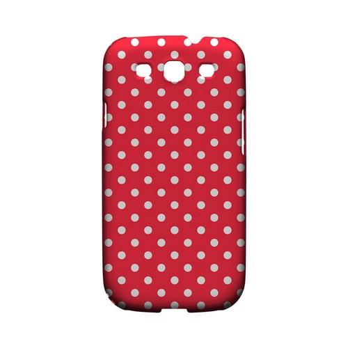 White Dots on Red Geeks Designer Line Polka Dot Series Matte Hard Case for Samsung Galaxy S3