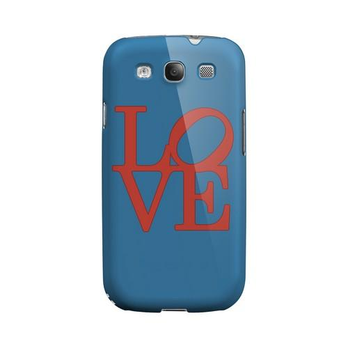 Red Love on Blue Geeks Designer Line Heart Series Matte Hard Case for Samsung Galaxy S3