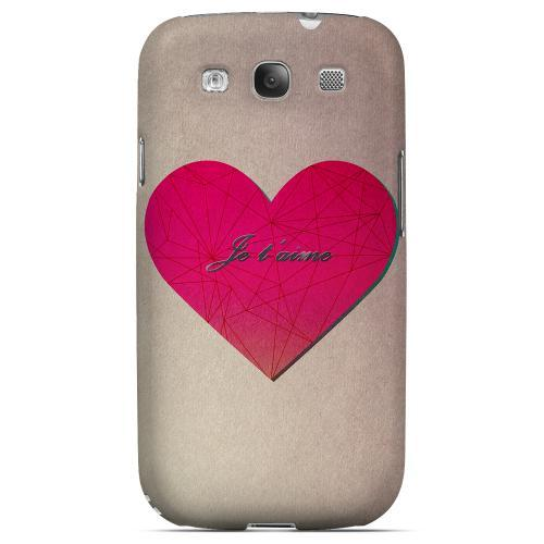 Je t'aime Geeks Designer Line Heart Series Matte Hard Case for Samsung Galaxy S3